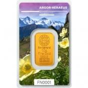 Zlatý slitek Argor Heraeus 10 gramů FN III jaro 2019