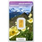 Zlatý slitek Argor Heraeus 1 gram FN III jaro 2019