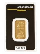 Zlatý slitek Argor Heraeus 20 gramů