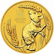Zlatá mince Rok myši, Lunární serie III. 1/4 oz 2020