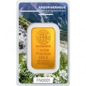 Zlatý slitek Argor Heraeus – 1 Oz FN III podzim 2019