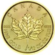 Zlatá mince Maple Leaf 1/10 Oz 2020