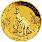 Zlatá mince Australian Kangaroo Gold Bullion 1/10 Oz 2020