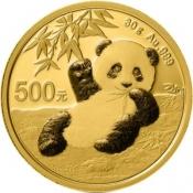 Zlatá mince Panda 30 gramů 2020