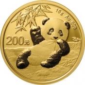 Zlatá mince Panda 15 gramů 2020