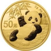 Zlatá mince Panda 3 gramy 2020