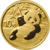 Zlatá mince Panda 1 gram 2020