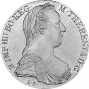 Stříbrný tolar Marie Terezie (novoražba)