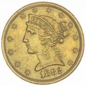Zlatá mince 5 dolarů Liberty (novoražba)