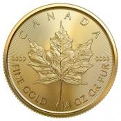 Zlatá mince Maple Leaf 1/4 Oz 2020