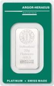 Platinový slitek Argor Heraeus 20 gramů