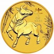 Zlatá mince Rok buvola, Lunární serie III. 1/10 oz 2021