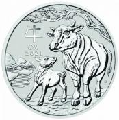 Stříbrná mince Rok buvola 1 oz 2021