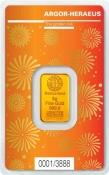 Zlatý slitek Argor Heraeus – 5 gramů Rok buvola 2021