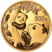 Zlatá mince Panda 30 gramů 2021