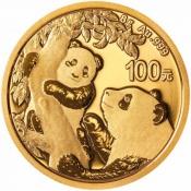 Zlatá mince Panda 8 gramů 2021