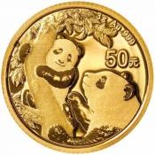 Zlatá mince Panda 3 gramy 2021