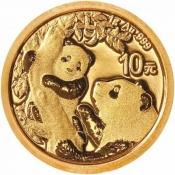 Zlatá mince Panda 1 gram 2021