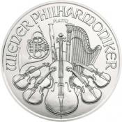 Platinová mince Philharmoniker 1 Oz 2020