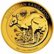 Zlatá mince Australian Kangaroo Gold Bullion 1/4 Oz 2021
