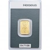 Zlatý slitek Heraeus 5 gramů