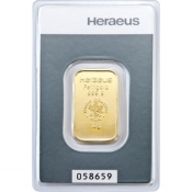 Zlatý slitek Heraeus 10 gramů
