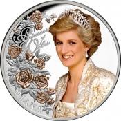 Stříbrná mince Diana princezna z Walesu