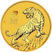 Zlatá mince Rok tygra, Lunární serie III. 1 oz 2022
