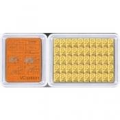 Zlatý slitek tabulkový 50 x 1 gram